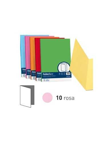 50 cartelline semplici ACQUA 200gr 25x34cm rosa FAVINI