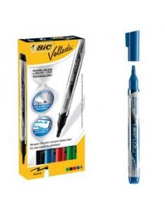 ASTUCCIO 4 MARCATORI P.TONDA Whiteboard VELLEDA® Liquid Ink Pocket BIC®