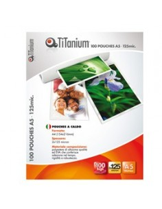 100 POUCHES 64x98mm 125my KEY CARD TiTanium