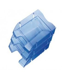 Vaschetta portacorrispondenza SALVASPAZIO blu trasp.HELIT