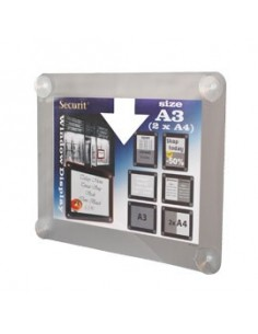 Modulo a 4 tasche f.to A4 Paperflow - 29x9,5x65 cm - alluminio - 4061.35